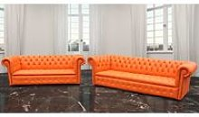 Chesterfield Crystal Diamond 4 Seater + 3 Seater