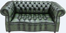 Chesterfield Darcy 2 Seater Antique Green Leather