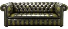 Chesterfield Edwardian 3 Seater Buttoned Seat Sofa