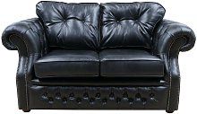 Chesterfield Era 2 Seater Sofa Old English Black