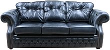 Chesterfield Era 3 Seater Sofa Old English Black