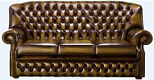 Chesterfield Fixed Back Monks 3 Seater Sofa
