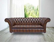 Chesterfield Grosvenor 3 Seater Leather Sofa