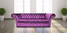 Chesterfield Grosvenor Purple 3 Seater Sofa Settee