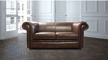 Chesterfield Hampton 2 Seater Settee Old English