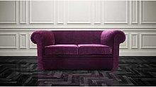 Chesterfield Hampton 2 Seater Settee Purple