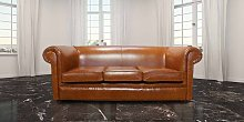 Chesterfield Hampton 3 Seater Settee Old English