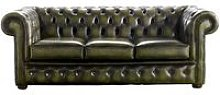 Chesterfield Handmade 3 Seater Sofa Antique Olive