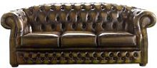 Chesterfield Handmade Buckingham 3 Seater Gold