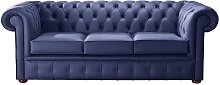 Chesterfield Handmade Leather Shelly Bilberry Blue
