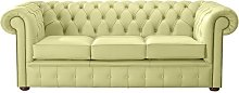 Chesterfield Handmade Leather Shelly Chartreuse