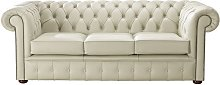 Chesterfield Handmade Leather Shelly Cream 3
