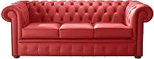 Chesterfield Handmade Leather Shelly Flame Red 3