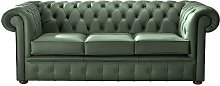 Chesterfield Handmade Leather Shelly Forest Green