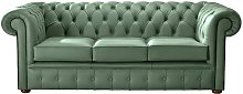 Chesterfield Handmade Leather Shelly Jade Green 3