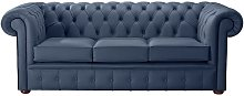 Chesterfield Handmade Leather Shelly Majolica Blue