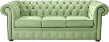 Chesterfield Handmade Leather Shelly Pea Green 3