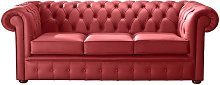 Chesterfield Handmade Leather Shelly Poppy Red 3