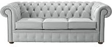 Chesterfield Handmade Leather Shelly Silver Grey 3