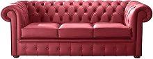 Chesterfield Handmade Leather Shelly Velvet Red 3