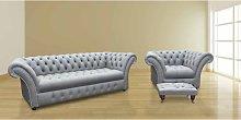 Chesterfield Highgrove 3 Seater + Armchair +