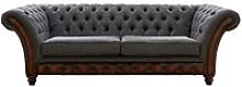 Chesterfield Jepson 3 Seater Sofa Settee Antique