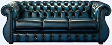 Chesterfield Kimberley Antique Blue Leather 3