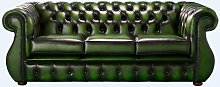 Chesterfield Kimberley Antique Green Leather 3