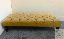 Chesterfield Large Footstool In Plush Velvet
