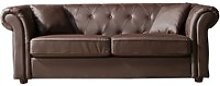 Chesterfield Leather 3 Seater Sofa, Brown