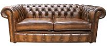 Chesterfield London 2.5 Seater Antique Tan Sofa