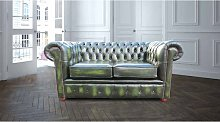 Chesterfield London 2 Seater Antique Green Leather