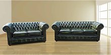 Chesterfield London 3+2 Leather Sofa Suite Offer