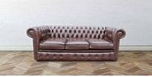 Chesterfield London 3 Seater Antique Brown Leather