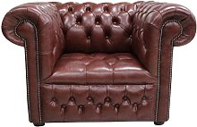 Chesterfield Low Back Club ArmChair Buttoned Seat