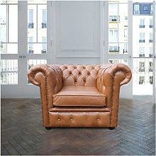 Chesterfield Low Back Club ArmChair Old English