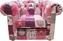 Chesterfield Low Back Club ArmChair Patchwork