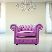 Chesterfield Low Back Club Armchair Wineberry