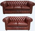 Chesterfield Luxury 3+2 Old English Chestnut Real