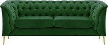 Chesterfield Modern 2 Seater Sofa-Velluto 10-gold