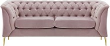 Chesterfield Modern 2 Seater Sofa-Velluto 14-gold