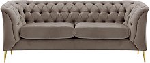 Chesterfield Modern 2 Seater Sofa-Velluto 17-gold