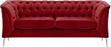 Chesterfield Modern 2 Seater Sofa-Velluto 7-chrome