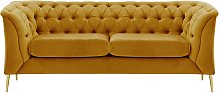 Chesterfield Modern 2 Seater Sofa-Velluto 8-gold