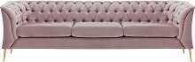 Chesterfield Modern 3 Seater Sofa-Velluto 14-gold