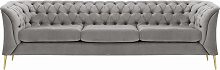Chesterfield Modern 3 Seater Sofa-Velluto 15-gold