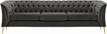 Chesterfield Modern 3 Seater Sofa-Velluto 19-gold