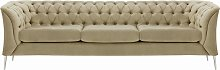 Chesterfield Modern 3 Seater Sofa-Velluto 3-chrome