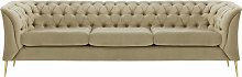 Chesterfield Modern 3 Seater Sofa-Velluto 3-gold