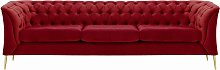 Chesterfield Modern 3 Seater Sofa-Velluto 7-gold